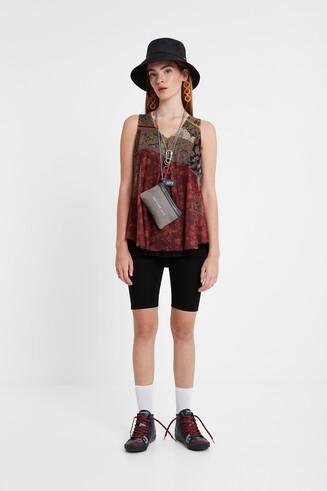 Boho double layer T-shirt