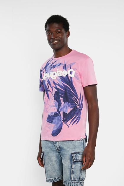 T-shirt fleuri 100% coton