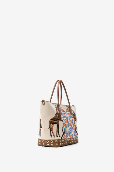 African embroidered print bag | Desigual