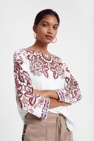 Floral boho blouse