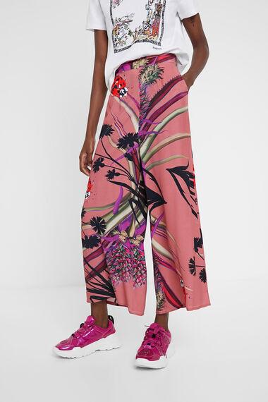 Jupe-culotte tropicale