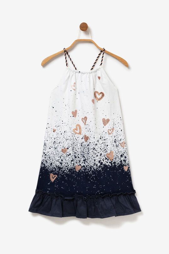 White Dress with Hearts Paint | Desigual