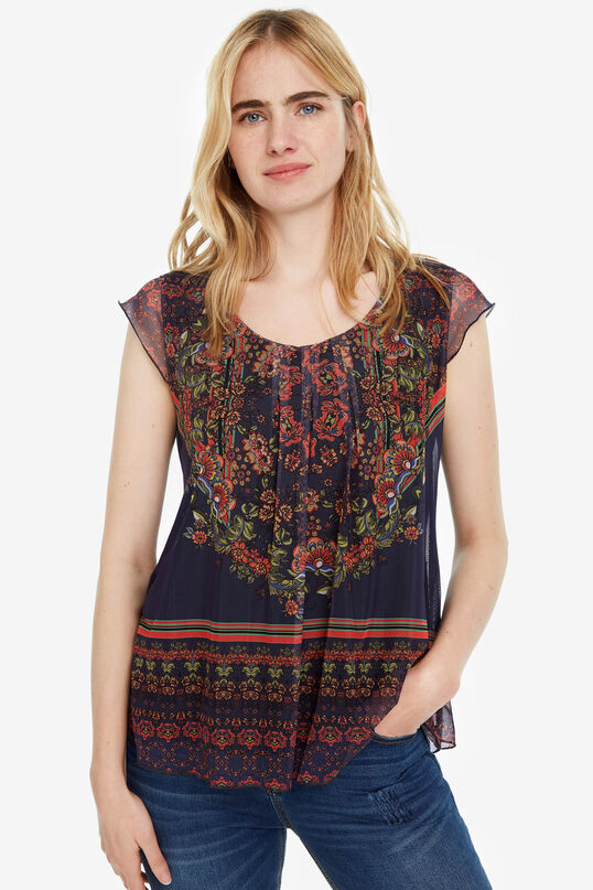 Camiseta fluida cuello redondo Nanuk | Desigual