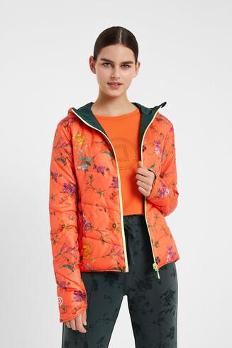 Jaqueta floral reversible i plegable