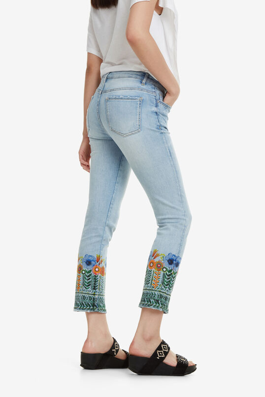 Floral Crop Jeans Copenhagen   Desigual