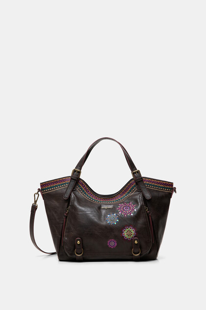 Embroidered bag curves