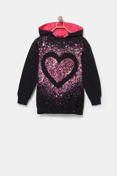 Loose Sweater mit Kapuze & Pailletten | Desigual