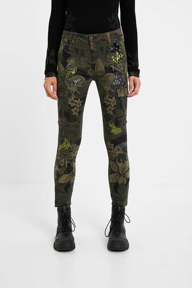 Spodnie rurki z kieszeniami cargo | Desigual