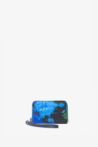 Padded coin wallet with floral camouflage | Desigual