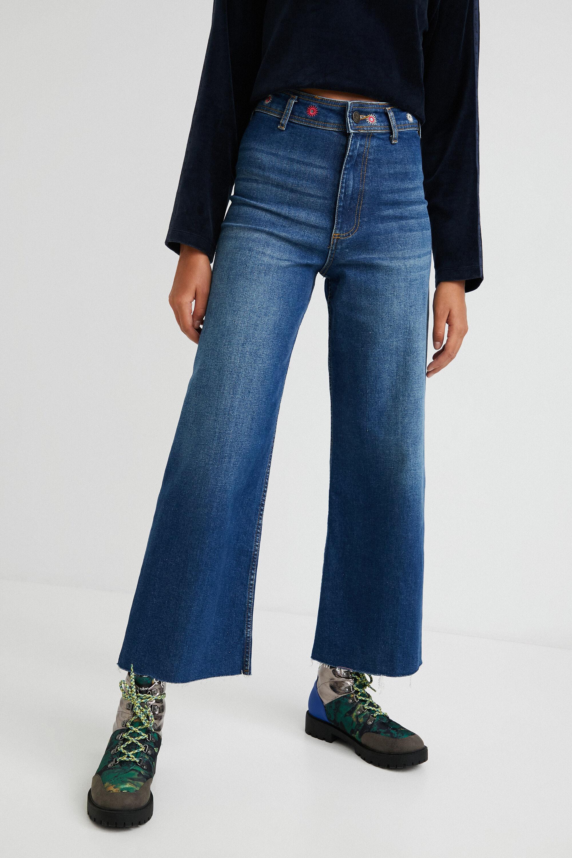 Jeans slim alla caviglia gamba larga BLUE 36