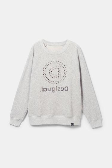 Sweat-shirt oversize oeillets et mandala | Desigual