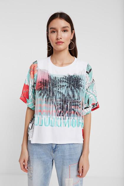 Koszulka w stylu hawajskim z frędzlami