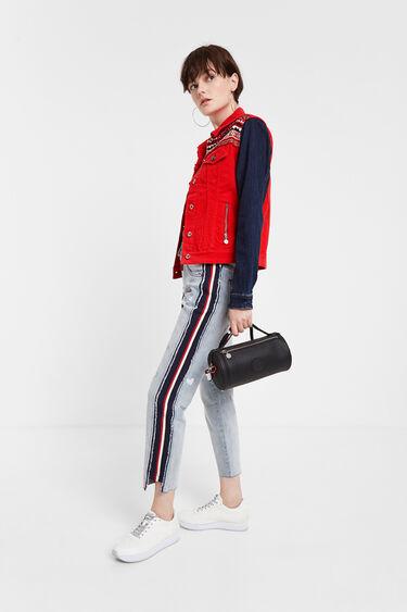 Multicolour jean jacket and friezes | Desigual