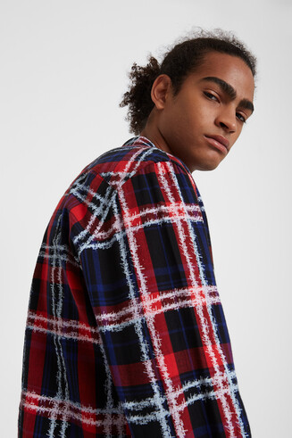 Regular long-sleeve checked shirt