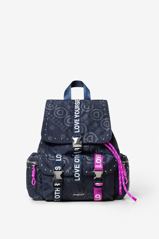 Violet logomania backpack