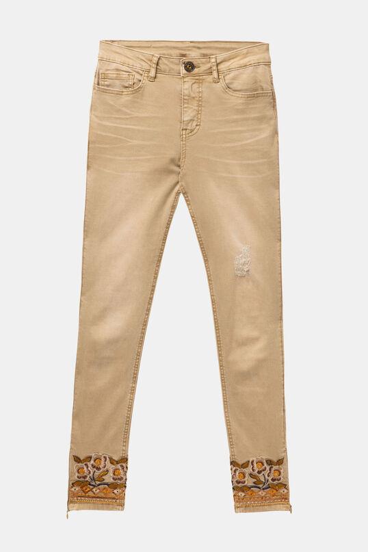 Pantalon écru 7/8 Miami Colors | Desigual