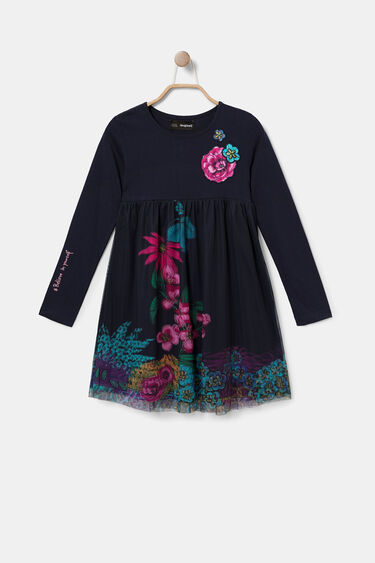 Cotton dress tulle layer | Desigual