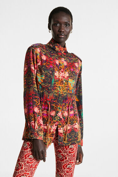 Straight floral parka | Desigual