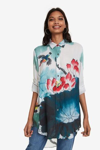 Japanese Tail-Hem Shirt Marlene