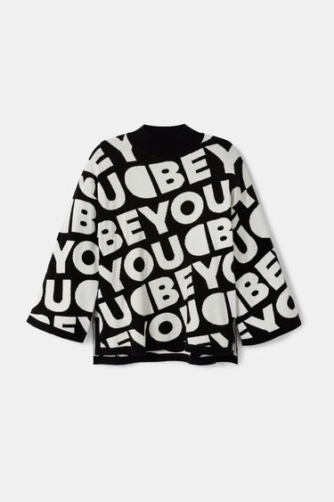 Loose lettering tricot jumper | Desigual