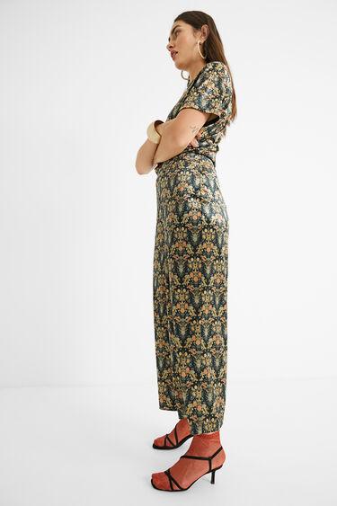 Printed trousers elastic waist   Desigual