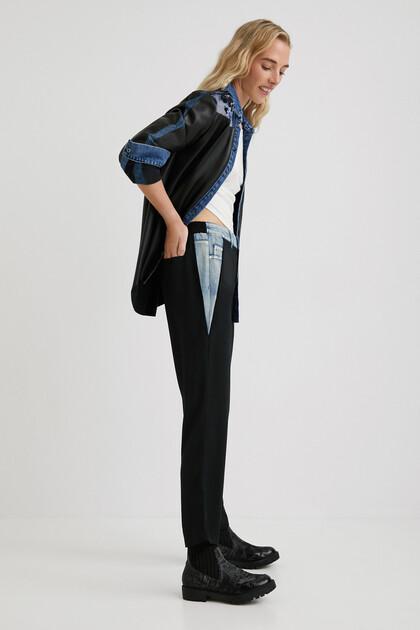 Pantalon hybride en jean