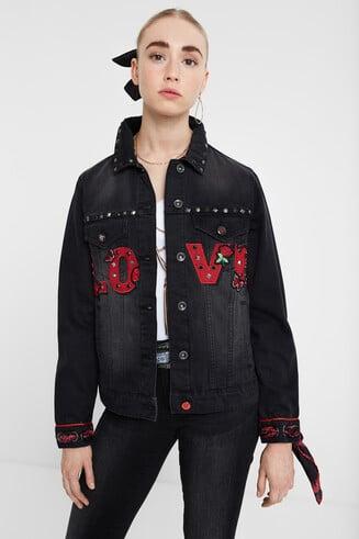"""""""LOVE"""" jean jacket"""