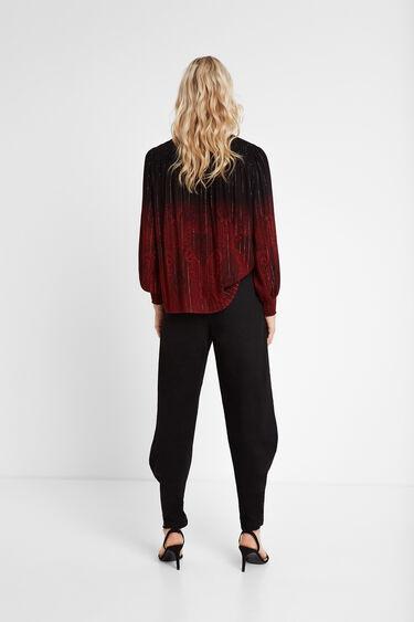 Loose paisley and Lurex blouse | Desigual