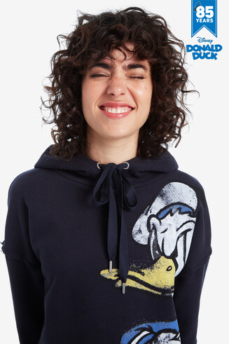 Blaues Donald Duck Loose-Fit-Sweatshirt