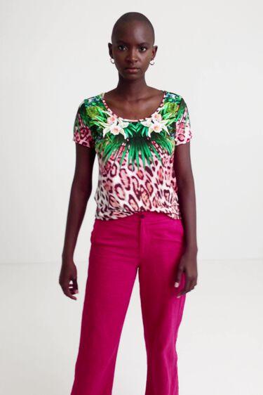 マルチカラーアニマルプリント Tシャツ | Desigual