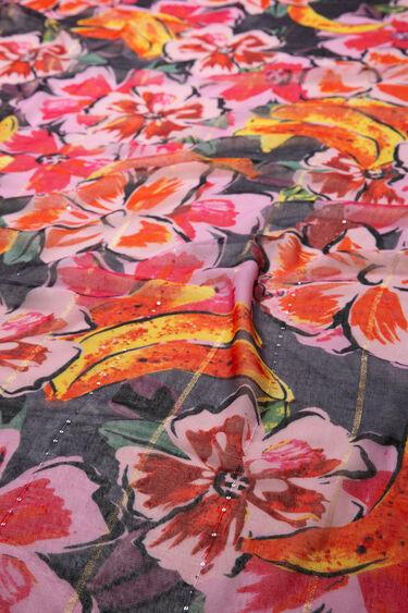 Fulard d'hibiscs i plàtans | Desigual