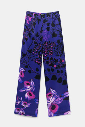 Wide leg trousers flowers