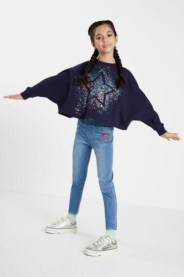 Sweat-shirt oversize étoile | Desigual