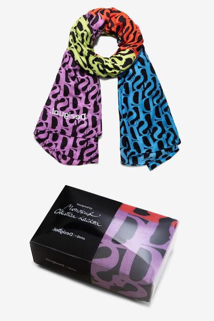 Rectangular logomania foulard Designed by M. Christian Lacroix