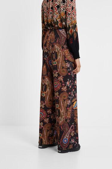 Pantalon fluide à paisley floral   Desigual