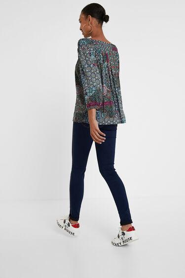 Boho flounced blouse | Desigual
