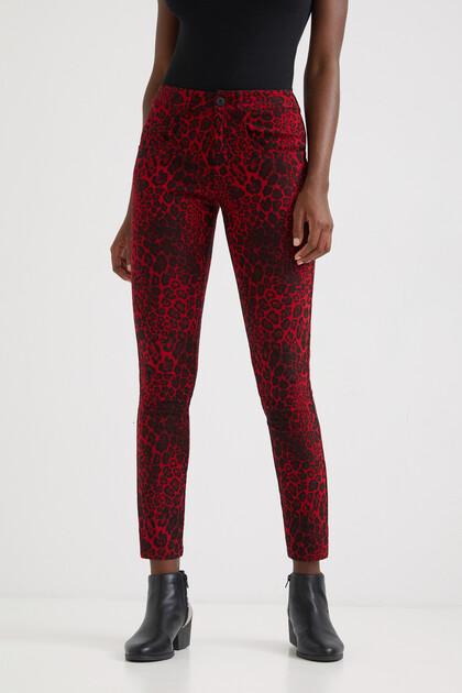 Pantalons slim animal print