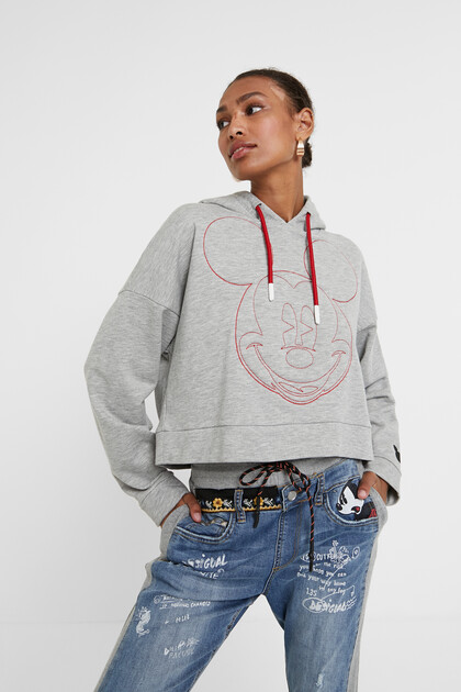 Sweatshirt monograma Mickey Mouse