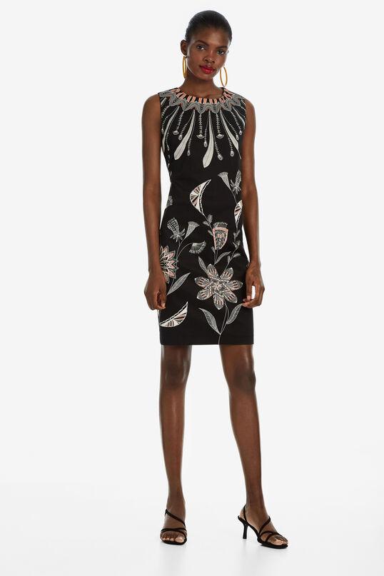 Feathers and Flowers Dress Kira | Desigual
