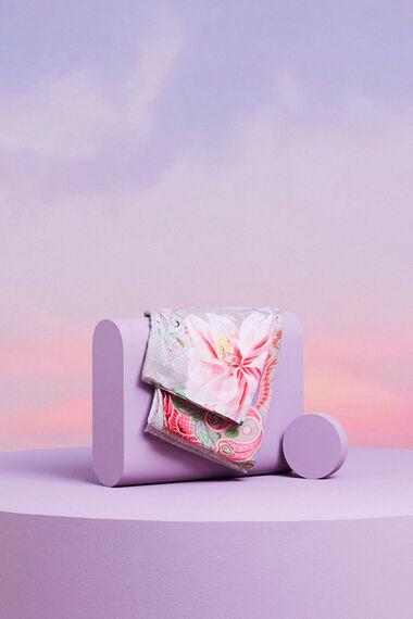 Rechthoekige sjaal met bloem
