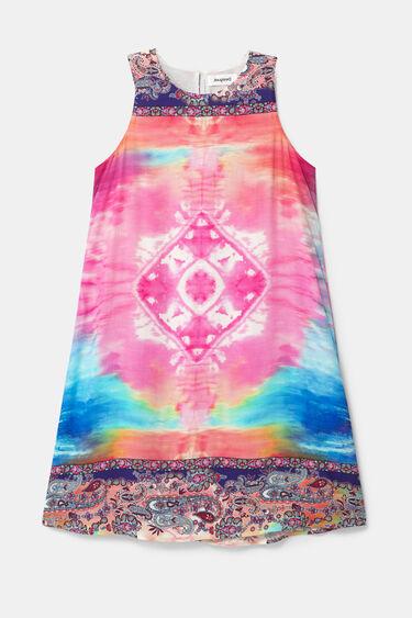 Short loose-fitting dress | Desigual