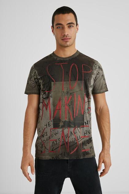 Katoenen T-shirt met tekst