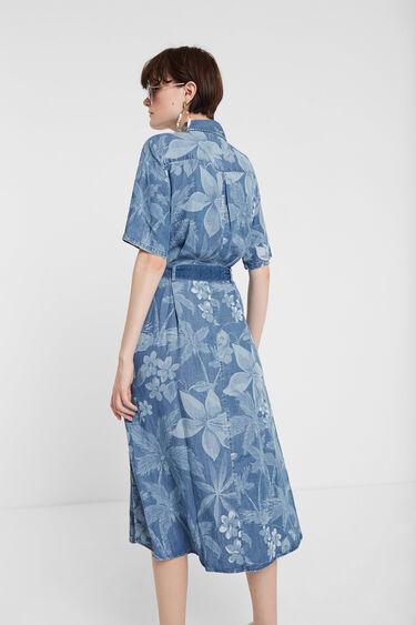 Safari Dress in Tencel™ floral camouflage | Desigual