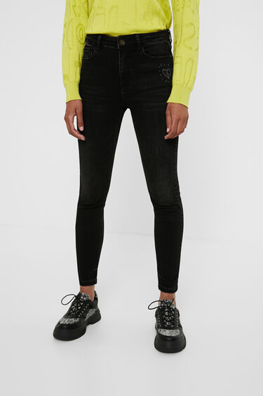 Dżinsowe spodnie rurki o długości do kostki | Desigual