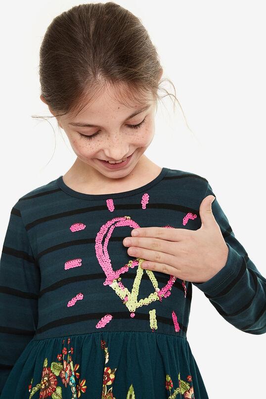 Vestito cuore con paillettes | Desigual