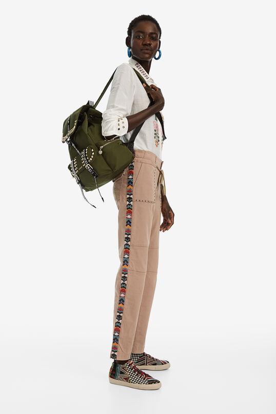 Pantalons rectes bandes laterals | Desigual