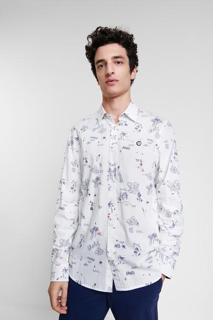 Shirt met bolimania-print