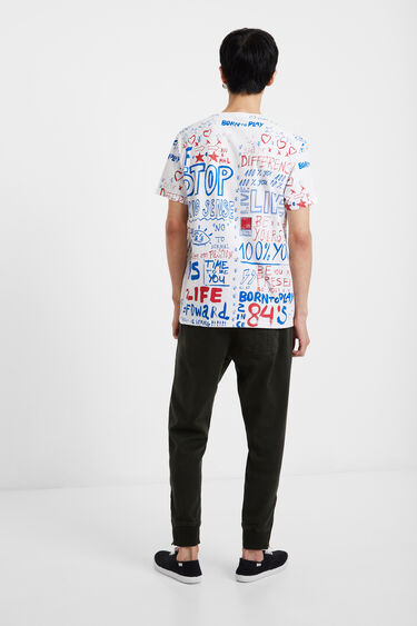 T-shirt stylomania 100% coton   Desigual