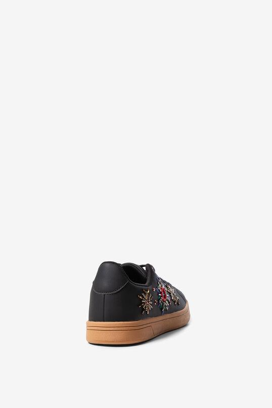 Sneakers pell sintètica brodada   Desigual