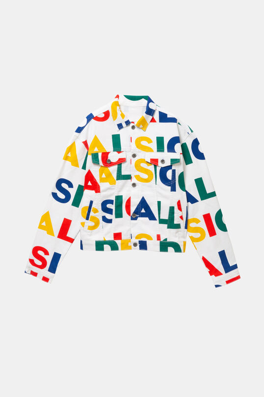 Colourful Logomania Jacket Dsgl   Desigual